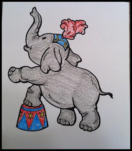 Circus elephant!