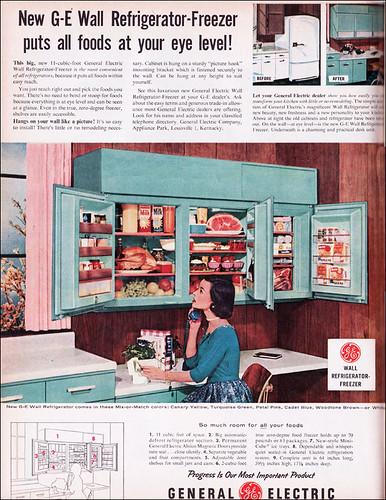 1956 GE Wall Refrigerator