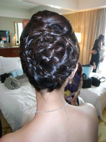 MING WORKSHOP 拍攝的 新娘髮型設計。