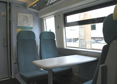 Train Chartering - Southern Railway Standard class seating with table (Class 377/4)