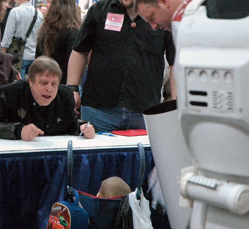 Mark Hamill talks to baby