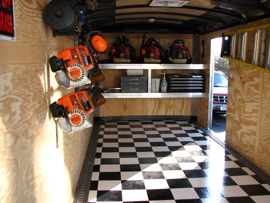 Pictures Of The New Enclosed Trailer Interior Lawnsite