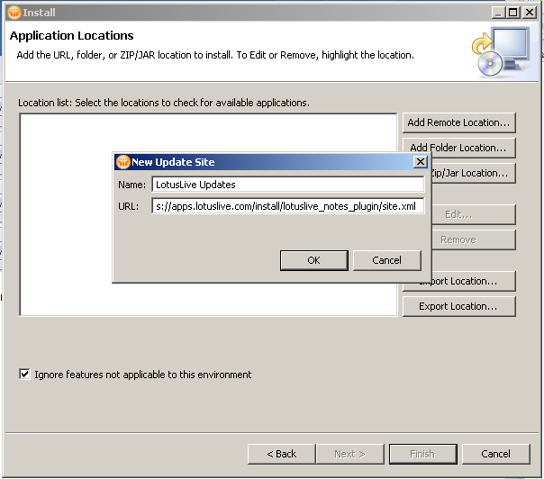 Installing LotusLive Plug-In for Lotus Notes 8