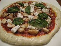 Goat Cheese Chicken Pizza