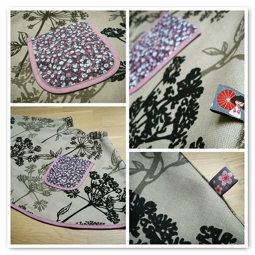 Hogweed Silhouette Skirt - mosaic
