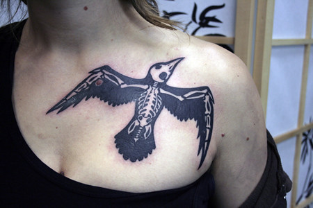 grateful dead tattoo by The Family Dog · crow skeleton by sylvie LS