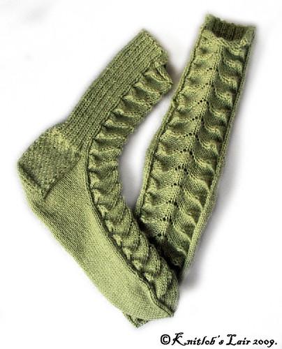 green lace socks 1sm