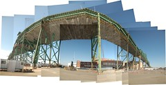 Tobin Bridge #1 (under the tollbooths) (Chris Devers) Tags: city bridge blue sky panorama usa green boston collage composite america ma us iron chelsea unitedstates stitch mosaic steel massachusetts unitedstatesofamerica montage photomontage charlestown bostonma 2009 hockney joiner photocollage tobin tobinbridge bostonist cantilever truss rt1 chelseama massport hockneyesque universalhub mysticriverbridge cantilevertrussbridge charlestownma massachusettsportauthority mauricetobin meta:exif=none mauricejtobin mauricejtobinmemorialbridge flickrstats:favorites=1 exif:filename=dscjpg meta:exif=1350402868