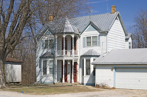 House, in Brussels, Calhoun County, Illinois, USA