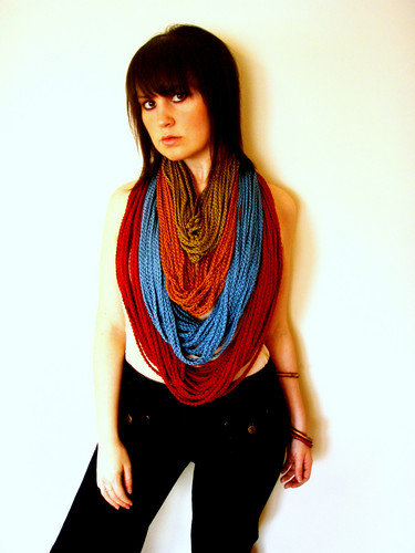 summer chain drop circle scarves