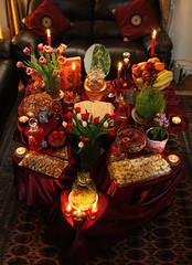 Happy Norooz (Persian New Year) (Ayda Ab) Tags: red persian spring iran newyear celebration event iranian 2009  haftsin norooz norouz persiannewyear nowruz noruz  1388 ayda iraniannewyear  sofreh ghermez year2568
