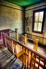Stepping into History (jrobfoto.com) Tags: shadow house broken window georgia flickr decay nolan cotton staircase plantation tread hdr trespassing plantationhouse stairrail bostwick balusters omot nolanhouse newels jonathanrobsonphotographycom viapixelpipe