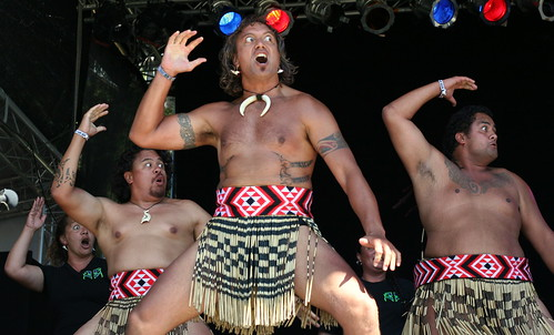 Haka, traditional dance of the Māori of New Zealand - WOMAD 2009