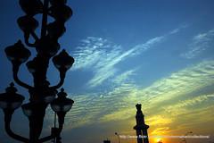 DSC_0173 (fixosign) Tags: sunset beach lamp lights corn nikon post gandhi marinabeach chennai 1755 d40