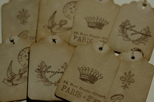 Coffee stained tags