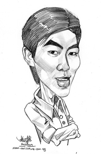 guy caricature in pencil 140309