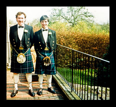 Groom & Best Man 1987 (FotoFling Scotland) Tags: wedding man hot male men fashion freedom groom scotland long kilt formal scottish hose wear patio event scot plaid bestman tartan commando kilted sporran scotsman drymen kiltie highlanddress regimental freeballing kiltlad kiltedscotsman kiltedman tartankilt fullkilt andaralogringo andarstrike
