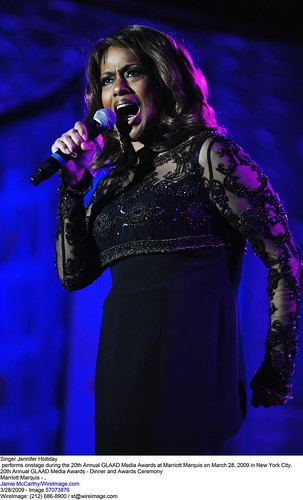 Jennifer Holliday shines at the 20th Annual GLAAD Media Awards.