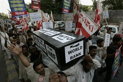 Supporters of the Pakistani religious party Jamat-i-Islami hold a protest rally in Karachi, Pakistan on Thursday, April 2, 2009 as world leaders from the G20 countries gather for a summit at the ExCel centre, in London's Docklands. by Pan-African News Wire File Photos