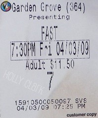 FAST & FURIOUS = AWESOME (OrangeCounty_Girl) Tags: life california usa america gg flickr kodak ticket socal movies southerncalifornia orangecounty oc westcoast gardengrove paulwalker ticketstub 714 vindiesel fastandfurious regalcinemas pansonic hnc michellerodriguez orangecountygirl hollyclark awesomemovie 79714 regalgardengrove16 hollyclark714 hnc714 holly714