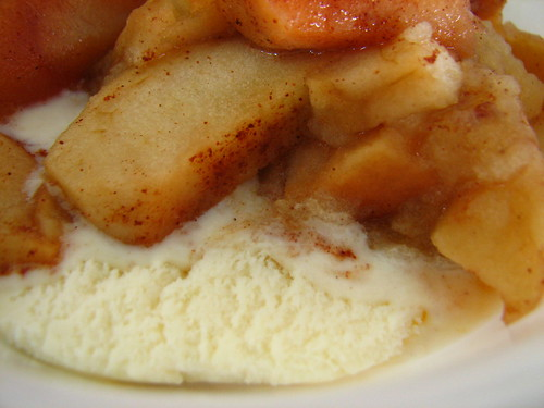 crock pot apples over ice cream