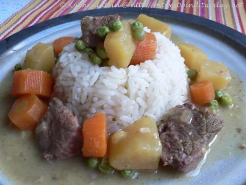 Rindfleisch-Curryreis japanische Art