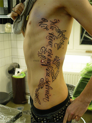 bill kaulitz ' s new tattoo. pls no rude comments about Tokio Hotel and the