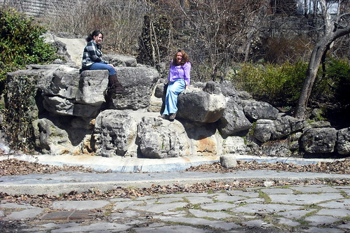 Char & Me, on the rocks.
