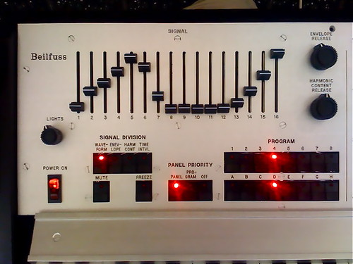 Beilfuss Step Synthesizer Front Panel 1 by John Grabowski.