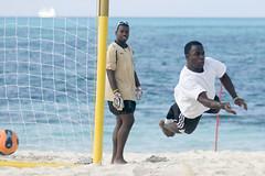 Missed the Ball..... Again! (Marie-Marthe Gagnon) Tags: ocean portrait beach water portraits ball goalie sand soccer bahamas nassau cablebeach flickrchallengegroup flickrchallengewinner mariegagnon mariemarthegagnon
