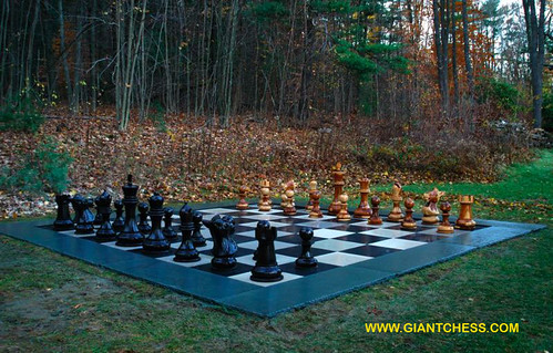 Outdoor Wood Chess For Your Garden Decoration