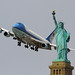That Air Force One Statue of Liberty shot