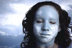 Camouflage (4) (Fer Gregory) Tags: blue portrait sky art face make up azul clouds mexicana canon mexico eos photographer artistic painted makeup mexican cielo nubes fernando fotografia gregory mexicano fotografo freg 40d anawesomeshot fernandogregory canoneos40d canon40d fergregory fernandogregorymilan
