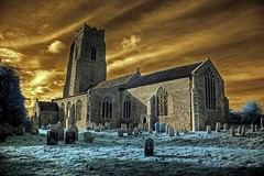 village hdr ir irhdr infrared norfolk church england... (Photo: Brokentaco on Flickr)