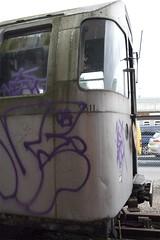 Curves (routemaster_fan) Tags: london underground grafitti decay tube trains londonunderground railways thetube centralline londonist tubestock 72ts 62ts hainaultdepot