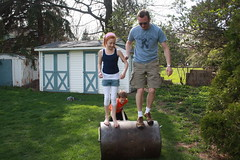 Maddie and Jon Barrel Rolling
