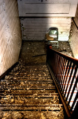 (chasingcars36) Tags: abandoned stairs chair desk decay indiana highschool urbanexploration gary urbex abandonedschool