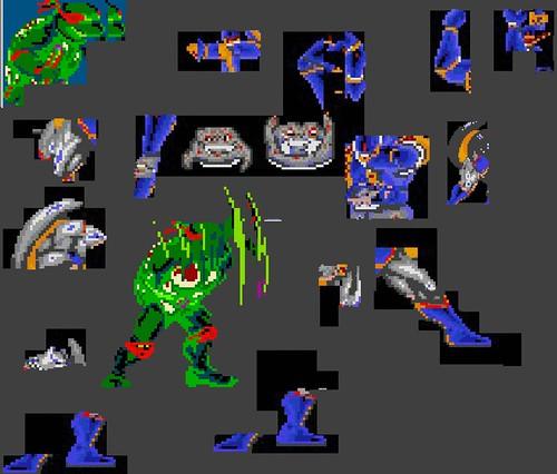 TMNT sprite set - X { LARGE V. }  (( 1990 ?! ))  [[ Src. Unknown ]]