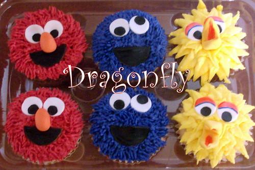 sesame street cupcakes. Sesame Street Cupcakes