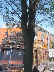 Chaudhury Tiara Bus (gitamalhotra) Tags: bus london marketing bright pakistani cheerful southall joyous bejewelled bedecked southallbroadway tkcchaudhury chaudhurystiara workingbus