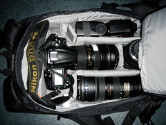 What can you fit in the flipside 300? (Kent Yu Photography) Tags: camera nikon gear bags lowepro d700 flipside300 inverse200