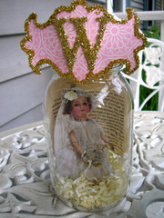 Garden Wedding Glass Vignette! 3