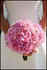 pink bouquet wedding photo
