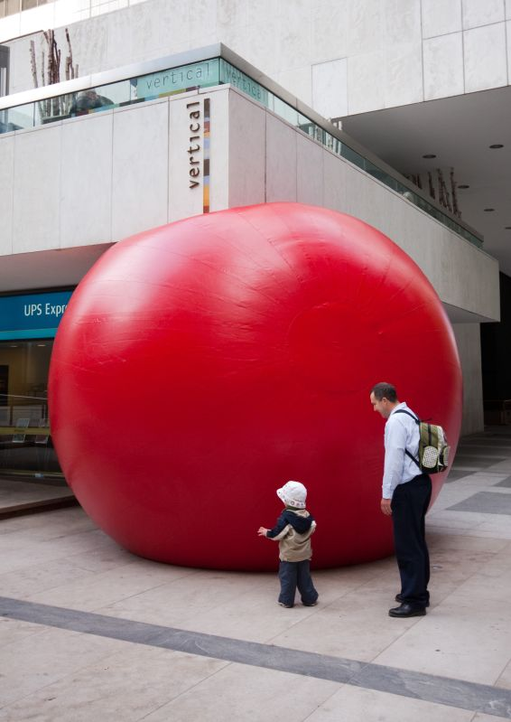 Big Red Ball in Downtown Toronto