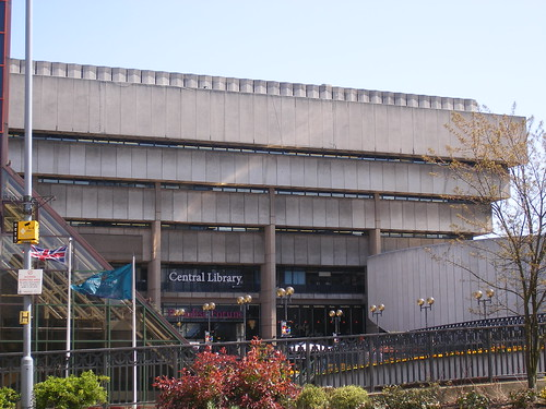 Birmingham Central Library - from Centenary Square