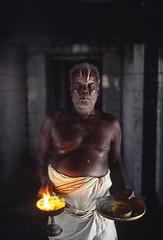 priest (markhawksbridge) Tags: india festival temple religion hindu tamilnadu mela hijra aravani aravan koovagam