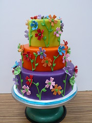 Colorful garden party cake (CAKE Amsterdam - Cakes by ZOBOT) Tags: birthday wedding party flower cakes cake garden colorful utrecht verjaardag bright celebration marzipan stacked specialty fondant tiered taarten bruidstaart sweetthings zoegottehrer