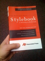 Just got my new edition AP Stylebook by Lee Bennett.