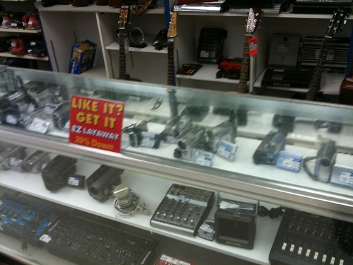 Camcorders for sale in an OKC pawn shop