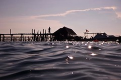 Experiencing Mabul Island (Dashuki Mohd) Tags: travel sea portrait sky people seascape nature kids canon boats island lumix underwater village panasonic malaysia 2009 mabul fishingvillage tawau ft1 semporna bajau 40d canon40d awe2020 dmcft1